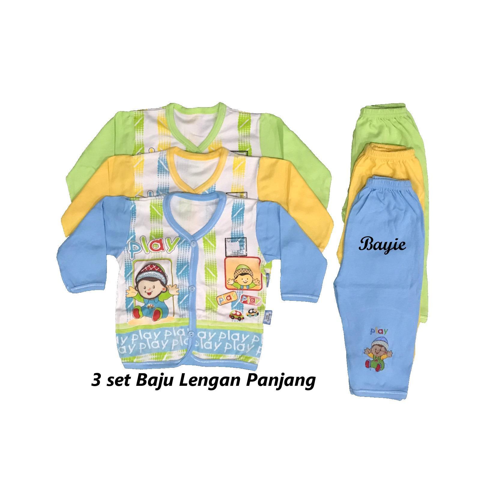 Cek Harga Baru Bayie 6 Set Setelan Baju Bayi Lengan Panjang Celana 3 Moms Gift Umur