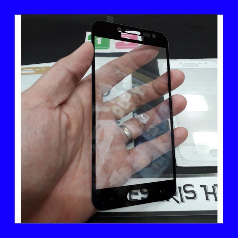 Full Tempered Glass Screen Protector Samsung J2 Pro 2018 Hitam Dki Jakarta