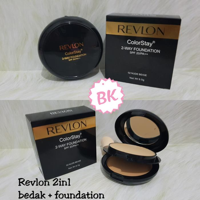 BEDAK REVLON 2IN1 TWO WAY CAKE + COMPACT COLORSTAY MINERAL FOUNDATION