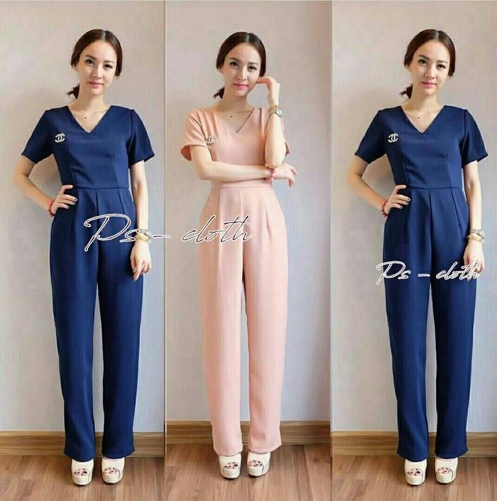 Celana Jumpsuit Canel Simply Fashion Chic Girl Ootd