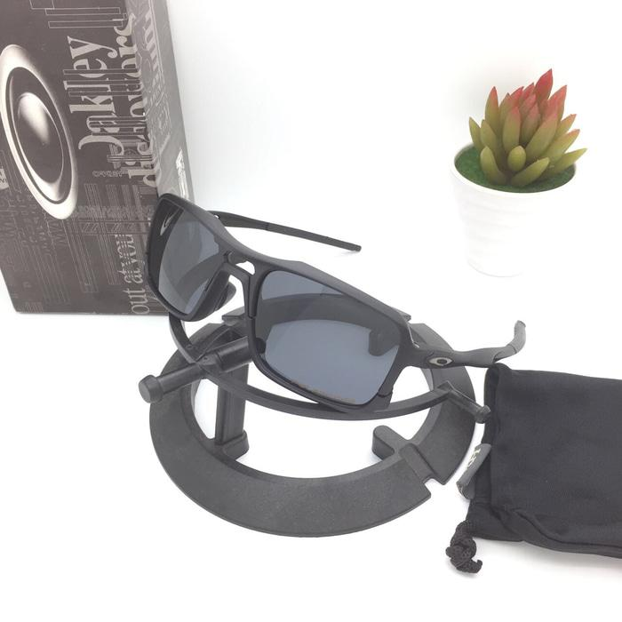 Hot Item!! Kacamata Sunglass Oakley Triggerman Full Black Polarized - ready  stock c9d5c5ece9