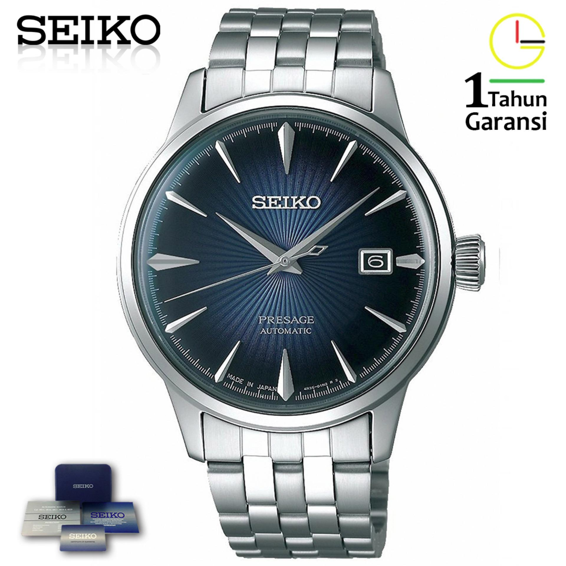 Kelebihan Seiko Presage Srp761j2 Automatic Black Leather Strap Jam Ssa303j1 Reserve Indicator Ssa303 Pria Ssa347j1 Bluemoon Cocktail Stainless Steel Silver