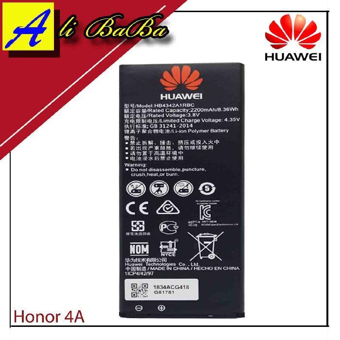 Baterai Handphone Huawei Ascend Honor 4A Y5 Ii Y6 HB4342A1RBC Original