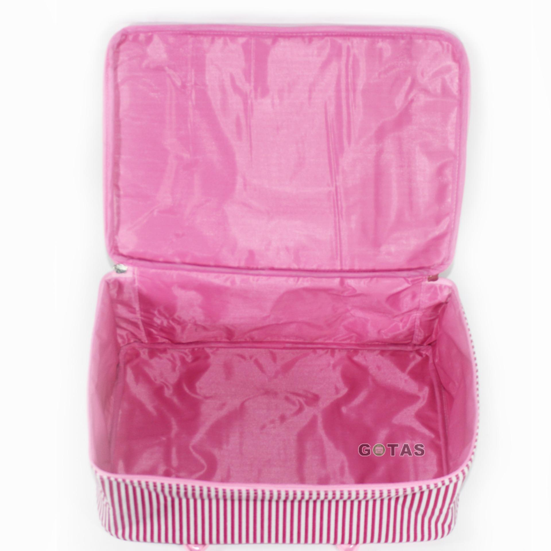 Gambar Produk Rinci Travel Bag Koper Tas Kanvas Karakter Hello Kitty Ukuran Besar Terkini