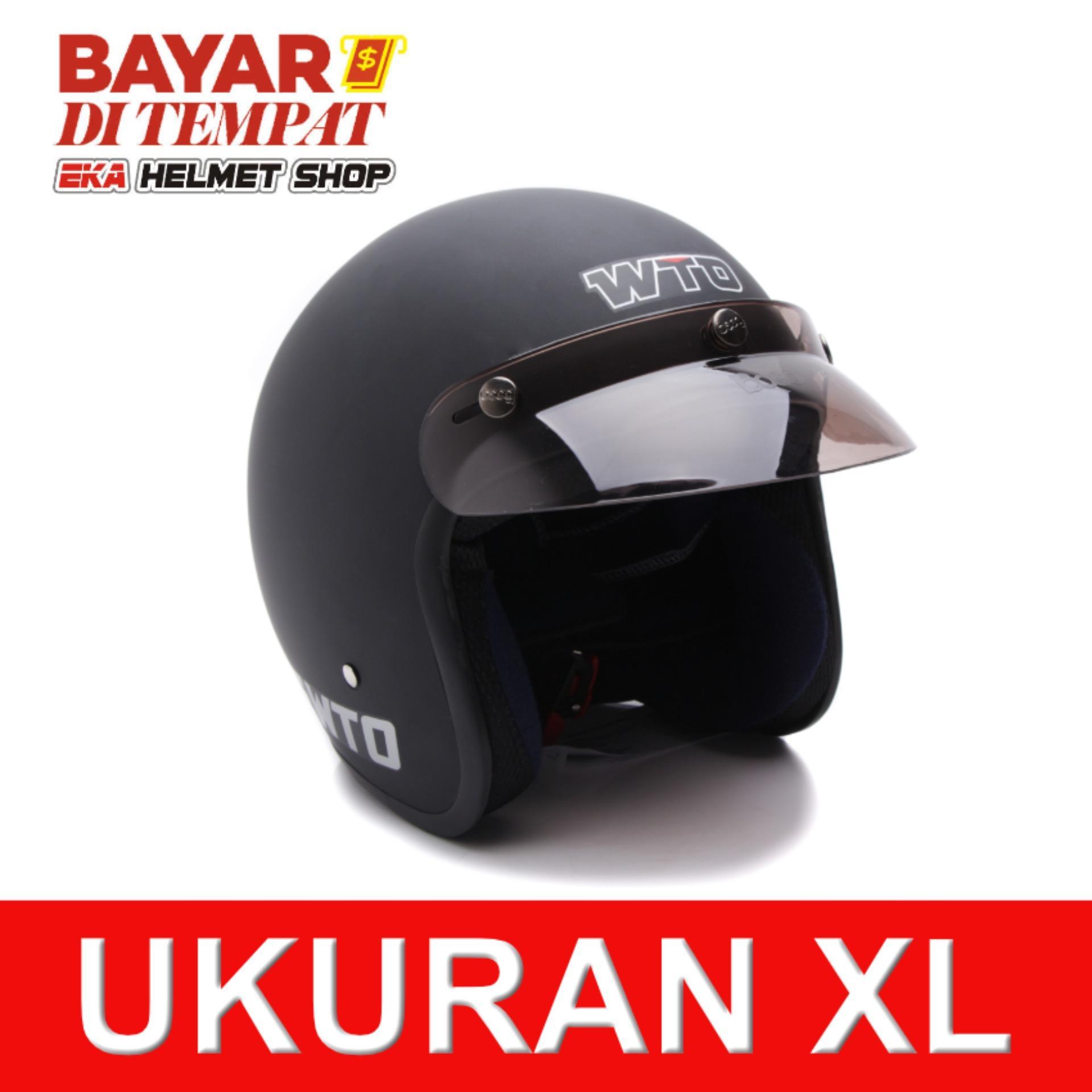 Jual Wto Helmet Retro Bogo Pet Cls1 Hitam Doff Original