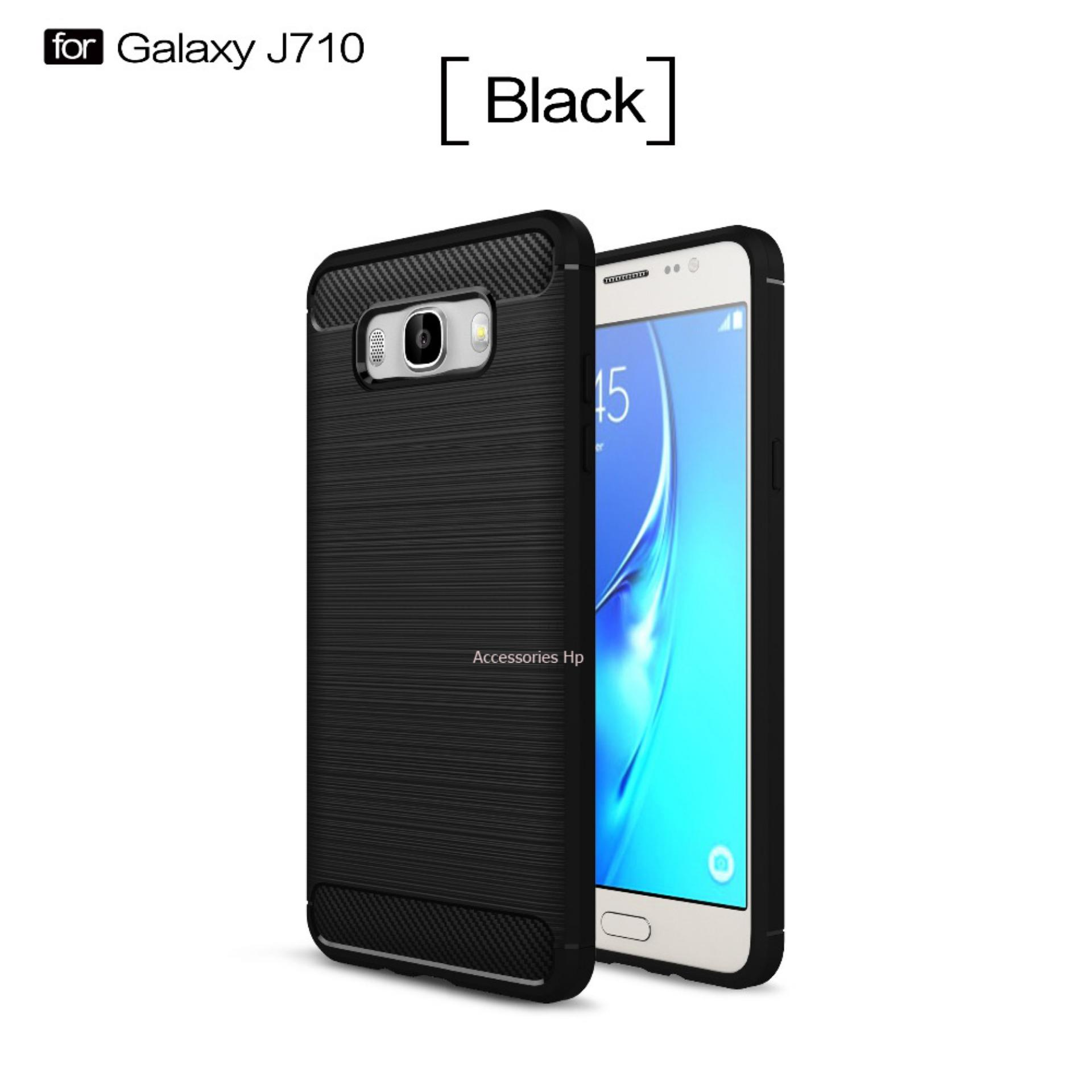Accessories HP Premium Quality Carbon Shockproof Hybrid Case for Samsung Galaxy J7 2016 / J710 -