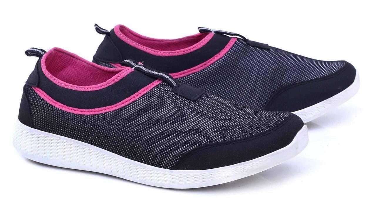 Gshp Sepatu Sneakers Wanita - bahan mesh - sol tpr Murah & berkualitas (hitam kom