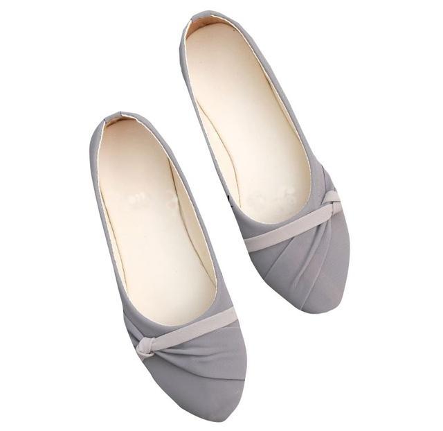 Sepatu Flatshoes Wanita Sepatu Flatshoes Kerja Sepatu flatshoes Casual sepatu Flat Shoes warna Hitam Abu Flatshoes