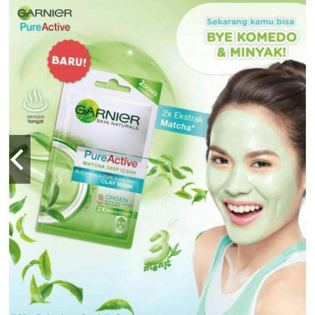 Garnier Pure Active Matcha Deep Clean 100 Ml Produk Terbaik Wiki Harga 50ml Clay Mask Bpom