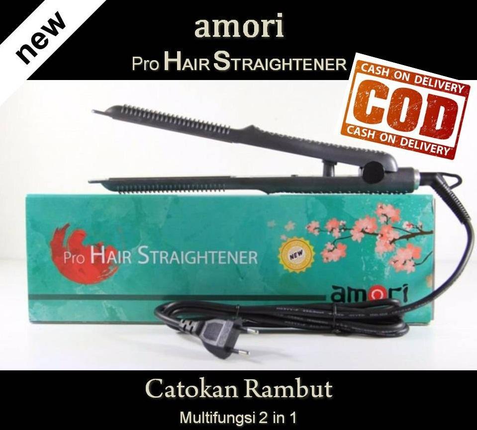 Catokan Amori by AMARA Multifungsi 2 in 1 Catok Rambut Lurus Ikal Keriting