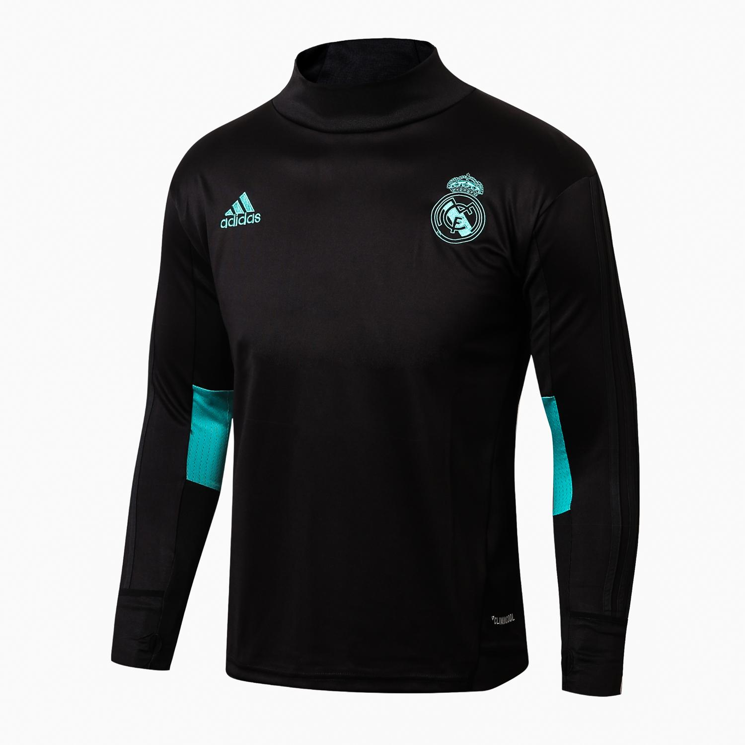 Harga Top Quality Real Madridfc Long Sleeve Home Jersey T Shirt 2017 2018 Online