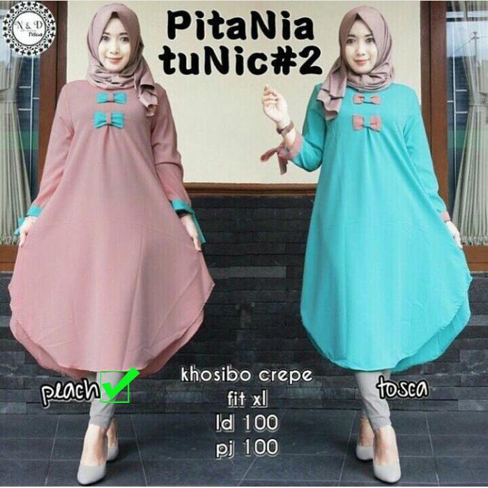 Baju Atasan - Blouse - Tunik Wanita - Baju Muslim - Blus Muslim - Pitania Tunik
