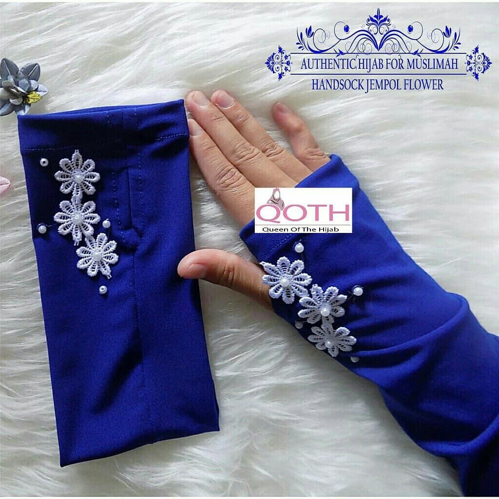 Detail Gambar Handsock Renda Samping - Handsock Murah - Handsock Renda Bunga - Manset Tangan Renda