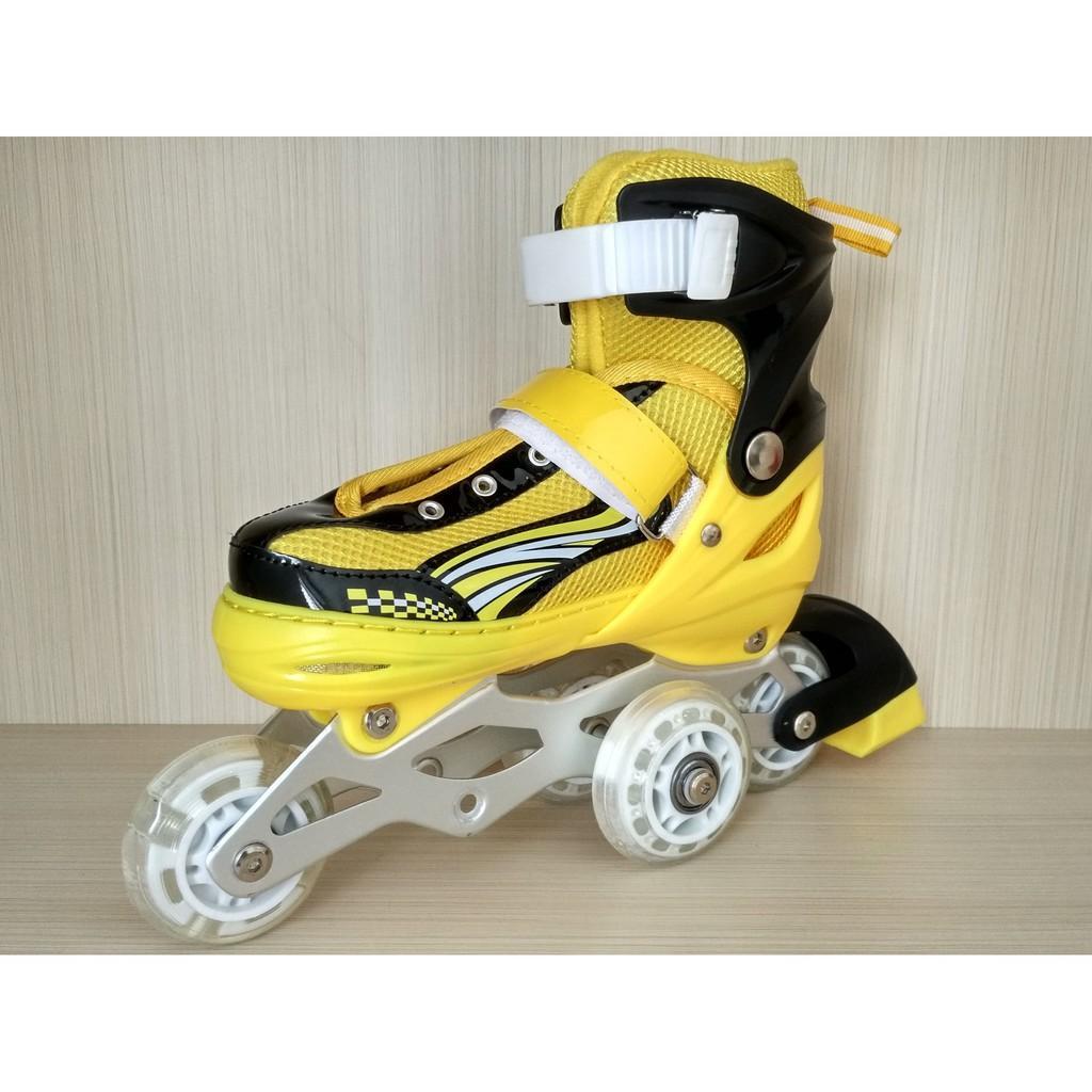 ... Sepatu roda anak bajaj murah sepatu inline skate lampu gatis spinner  Variasi kuning M - 4 ... bfd541ad75