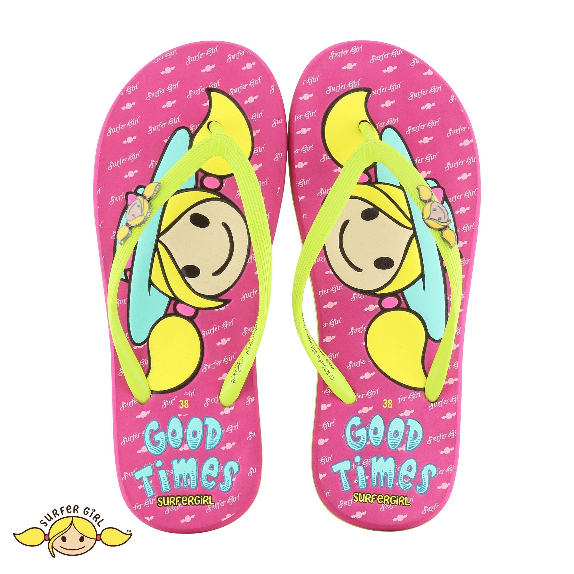 Beli Sandal Flip Flop Surfer G*rl Limited Edition Sgl 481 Lime Fusia Online Murah