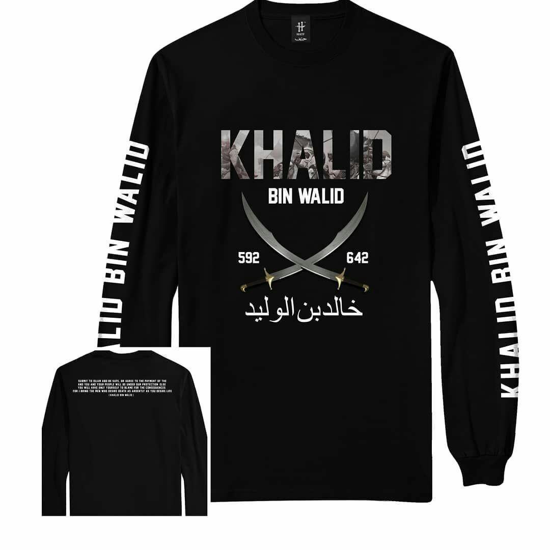kaos hajaru muslim lengan panjang khalid bin walid i 592-642