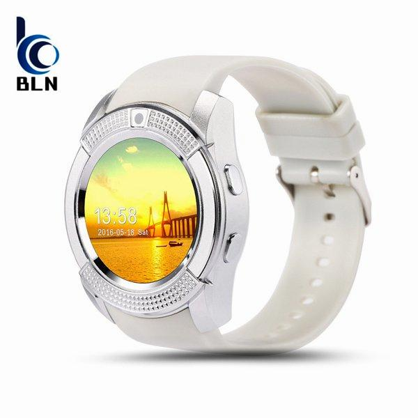 Toko Bln V8 Smart Watch Clock With Sim Tf Card Slot Bluetooth Connectivity For Apple Iphone Android Phone Smartwatch Watch White Bln Hong Kong Sar Tiongkok