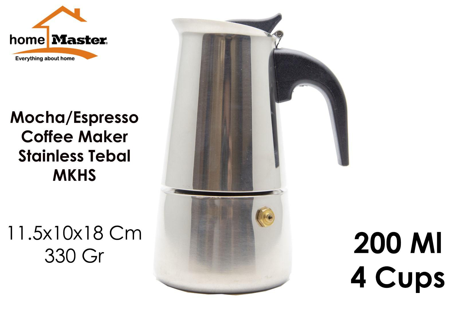 HomeMaster Mocha/Moka/Espresso/Coffee/Kopi Maker Pot Teko 4 Cup 200