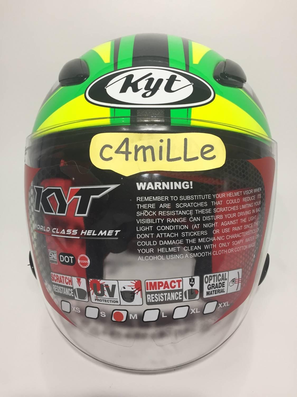 ... HELM KYT DJ MARU SE WORD GP READY XIMEON GREEN FLUO BLACK YELLOW FLUO HALF FACE ...