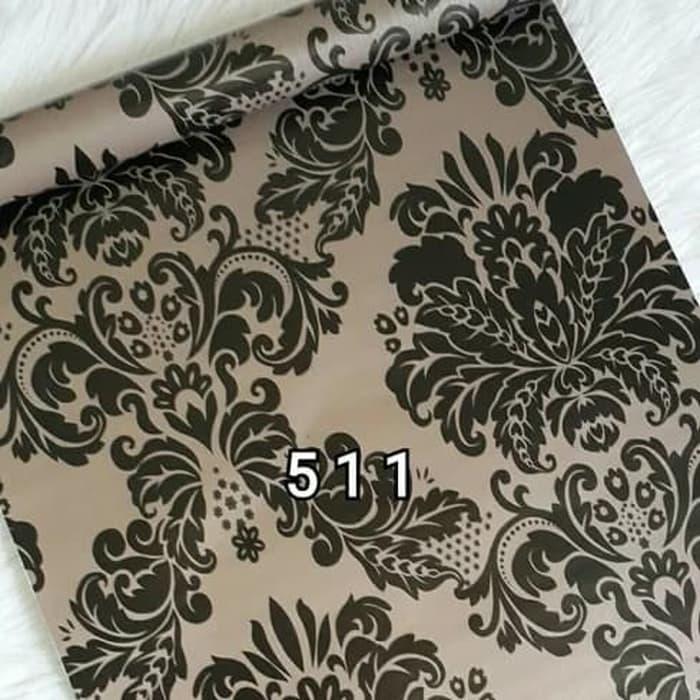 Detail Gambar wallpaper sticker dinidng batik hitam brown Terbaru