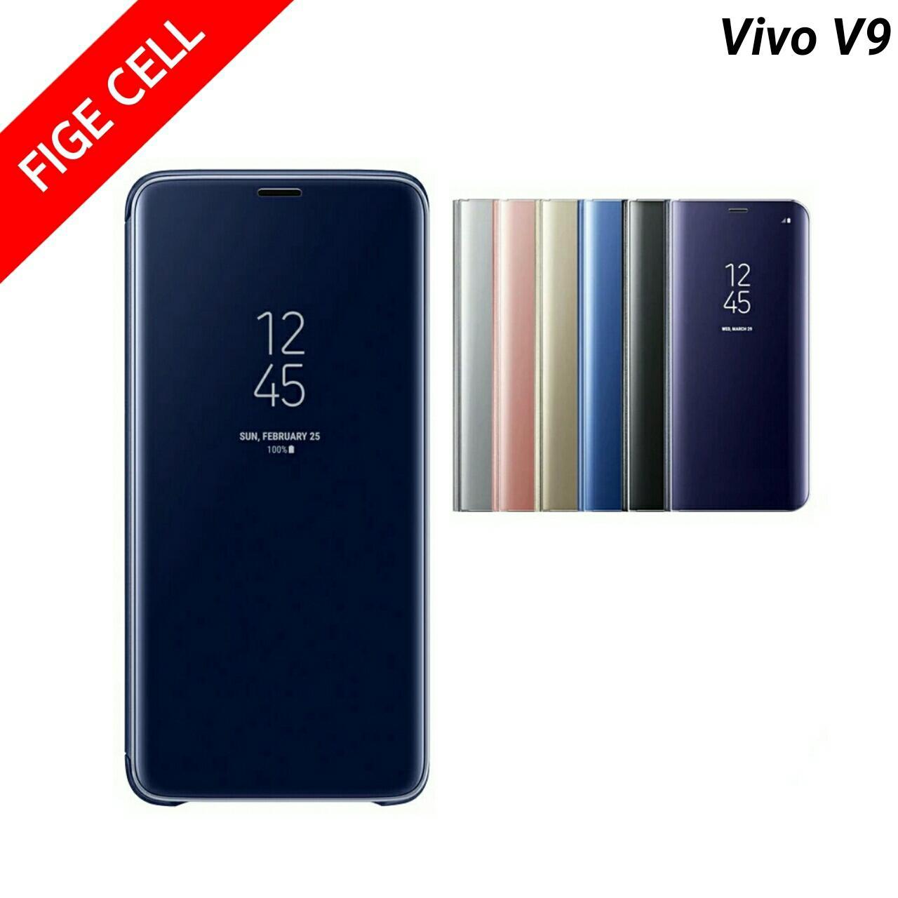 Fitur Flip Case Mirror Vivo V9 2018 View Clear Standing Dan Harga