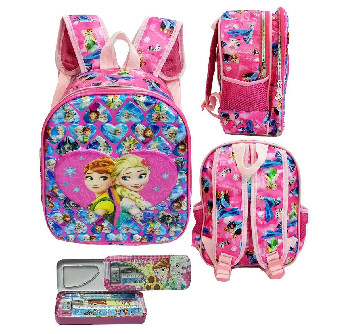 Onlan Tas Ransel Anak Sekolah TK 2 Kantung Import Karakter Anak Perempuan + Kotak Pensil