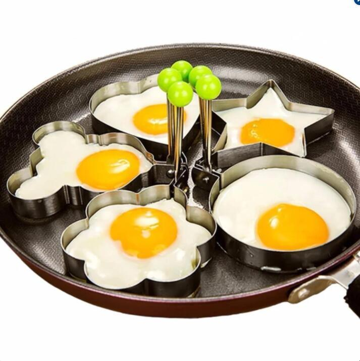 Puding 1 Set (5 Pcs) anti Karat Goreng Telur Cetakan Non-stick Telur