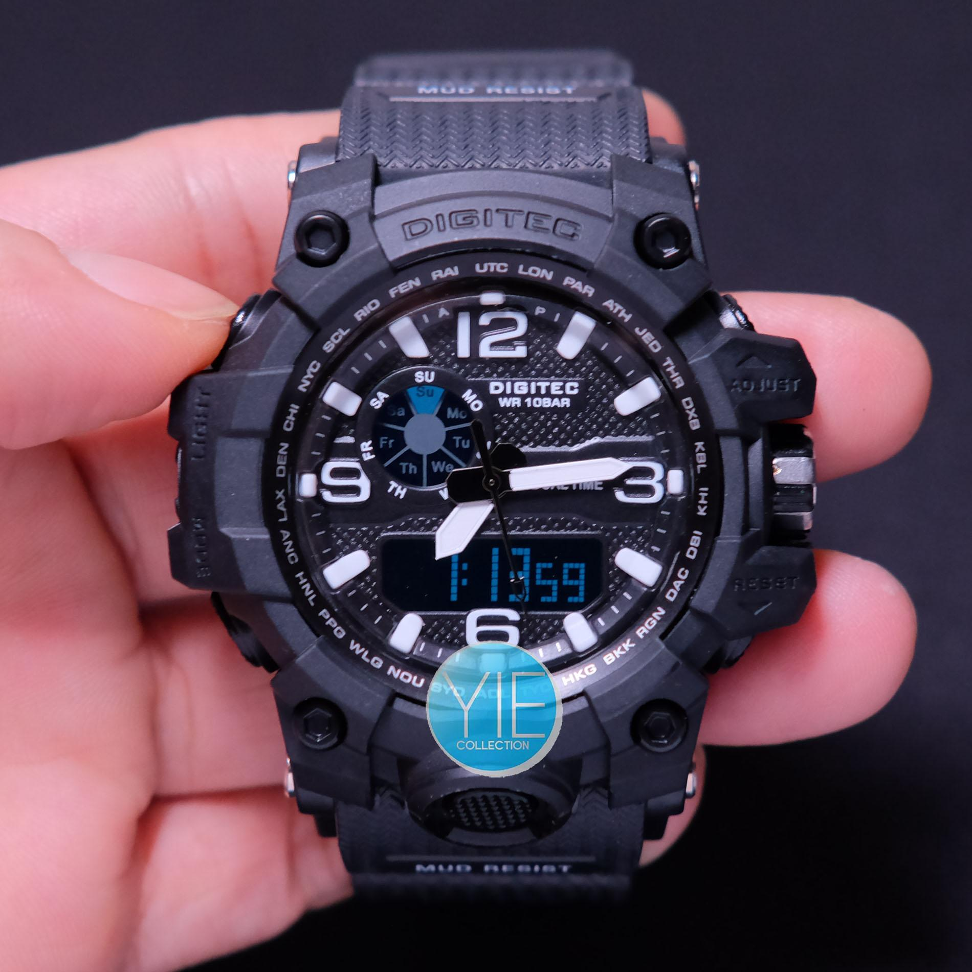 Digitec Jam Tangan Sport Pria DG 2093 T Dual Time Original Anti Air .