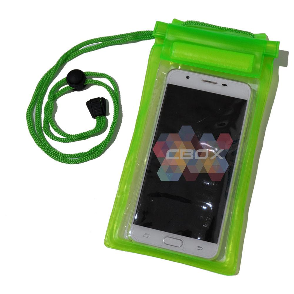 MR Universal Phone Pouch Waterproof Xtra Large Max 6 Inch Kantong Handphone Anti Air XL / Bag Case Water Proof HP / Tas HP Anti Air - Hijau