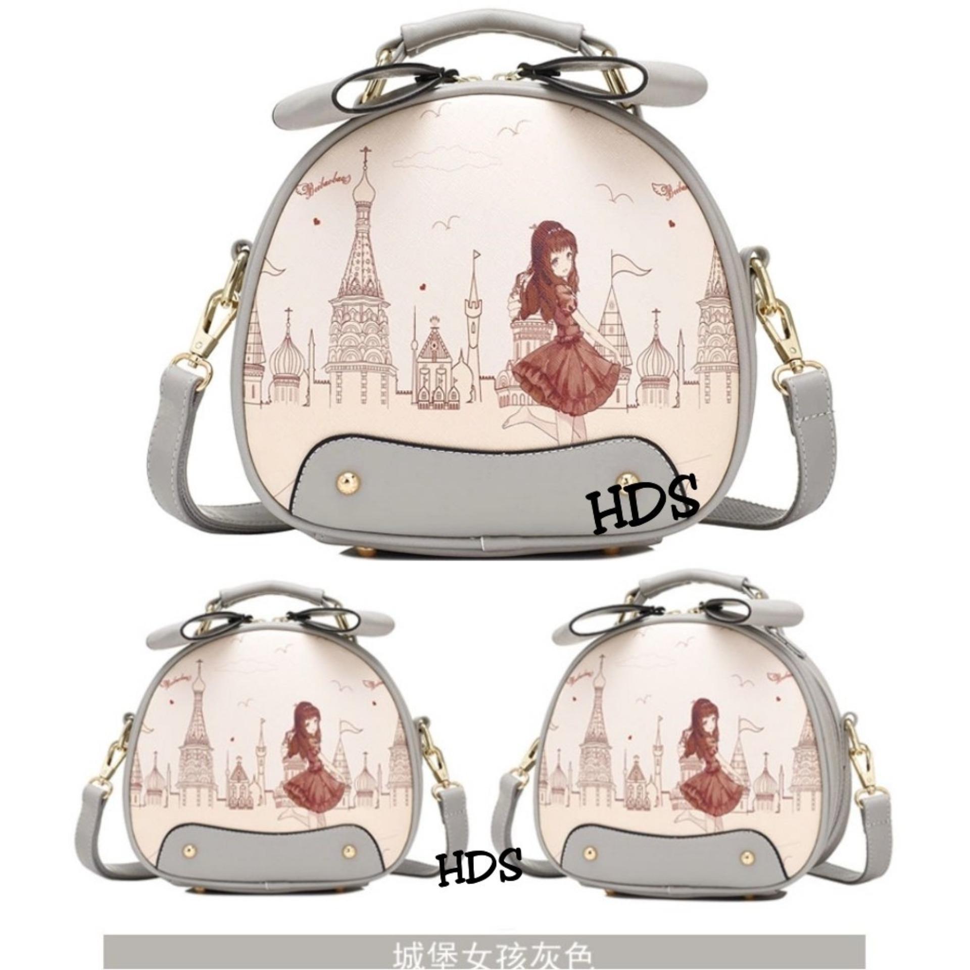 Kelebihan Sling Bag Korean Style Happy Girl Tas Selempang Wanita Printing Ovale In Frame