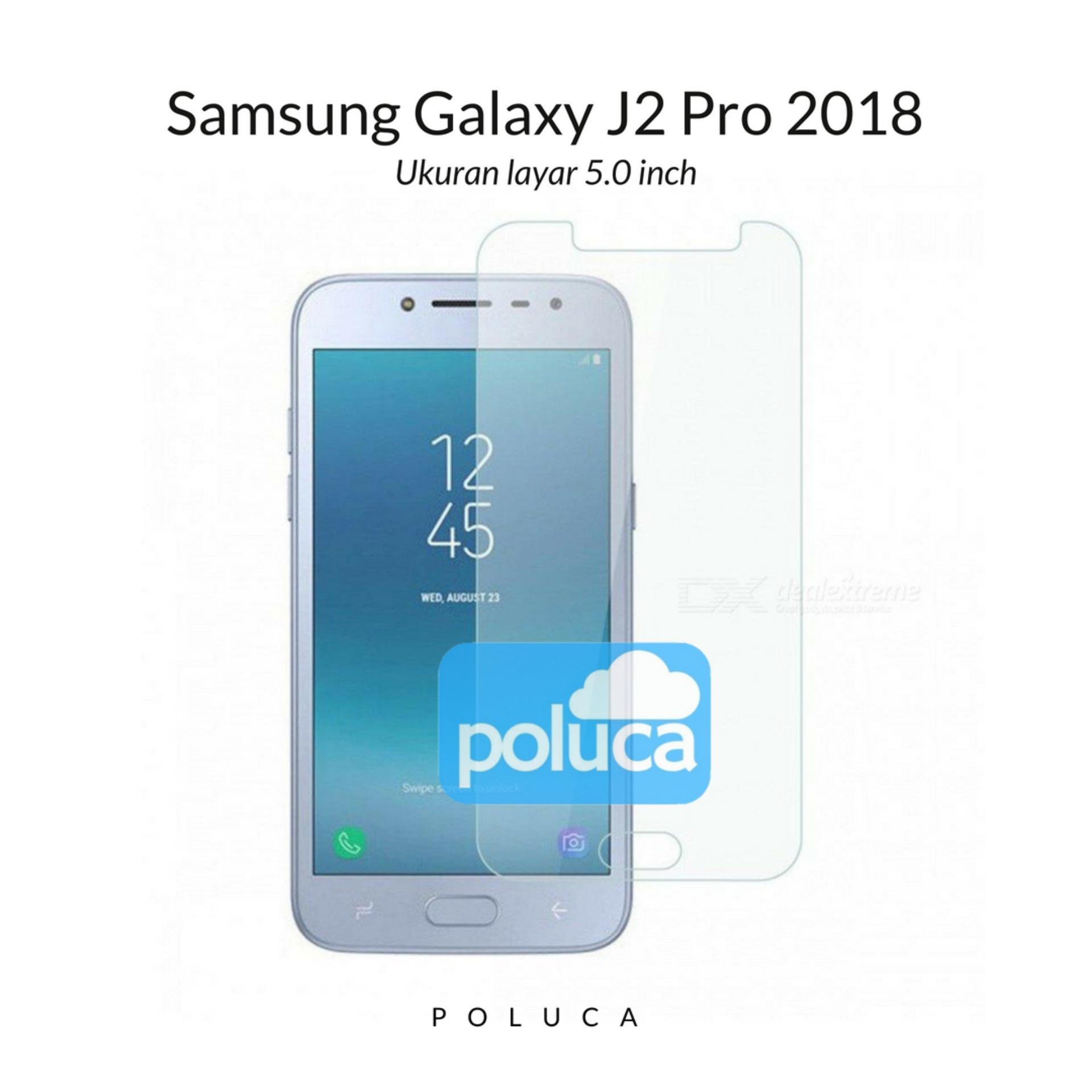 Poluca Tempered Glass Screen Protector Anti Gores Kaca Samsung Galaxy J2 Pro 2018 - Clear