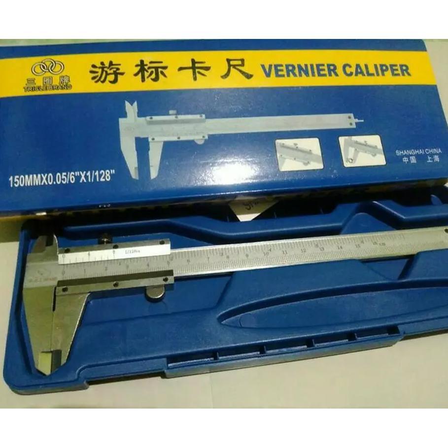 Perkakas Nankai Caliper Vernier Sketmat Sigmat Jangka Sorong 8 Alat Ukur Pertukangan Pengukur Panjang 15cm Manual 6