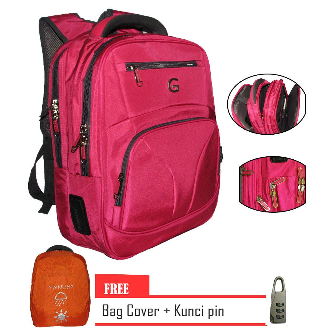Beli Giordano Backpack Laptop Original Import Free Pink Dengan Kunci Pin Giorgano Murah