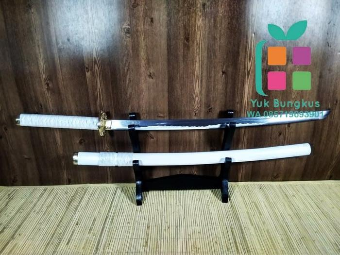 Pedang Samurai Katana Sakura White Gold PS35