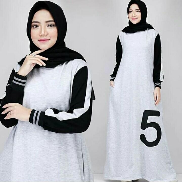 Features Baju Original Gamis Five Dress Combed Baju Muslim Terbaru