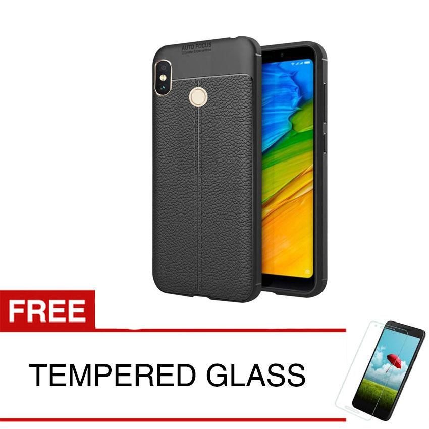Case for Xiaomi Redmi Note 5 Pro - 5.99 inch - Black Focus Soft Case +