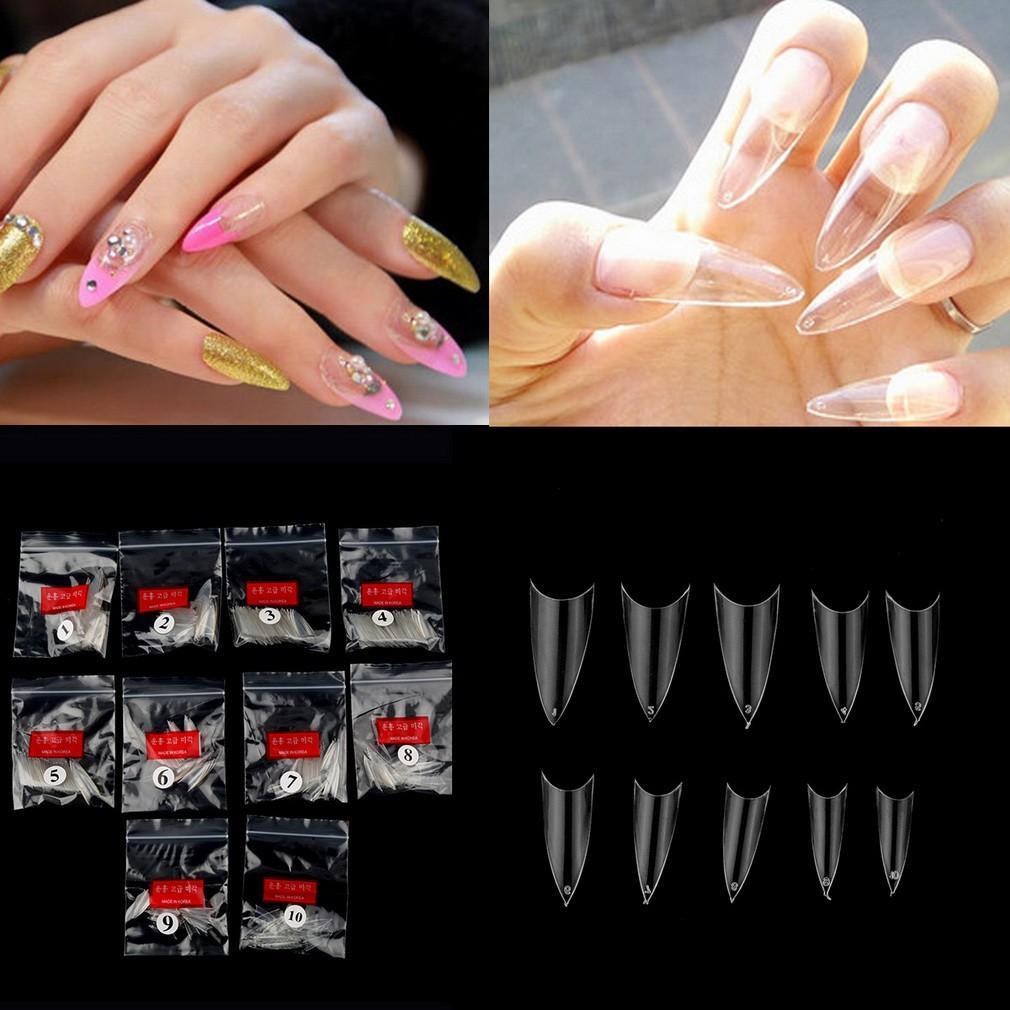 24 Buah Perancis Akrilik Kuku Palsu Penuh Tips Seni Jbs Nails Wedding Fake Nail Art 3d A18 500pcs Kiat Uv Gel Acrylic Stiletto Point Transparan