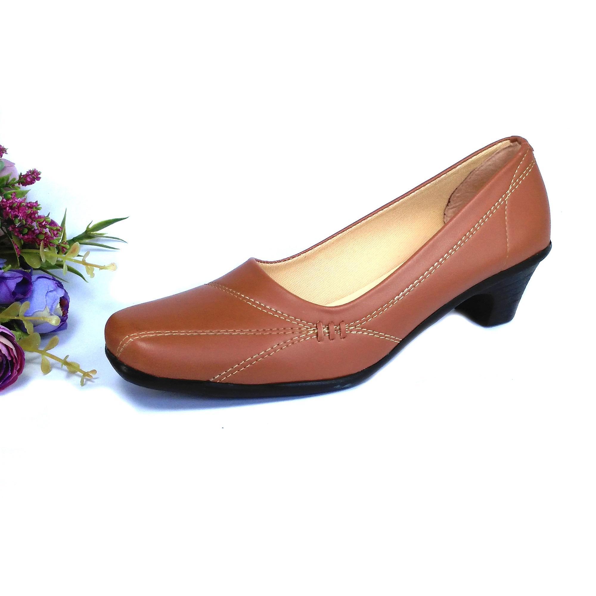 HQo Sepatu Pantofel Wanita   Sepatu Wanita Formal   Sepatu Pantofel  Paskibra Wanita Bertali   Sepatu 95e53f8097
