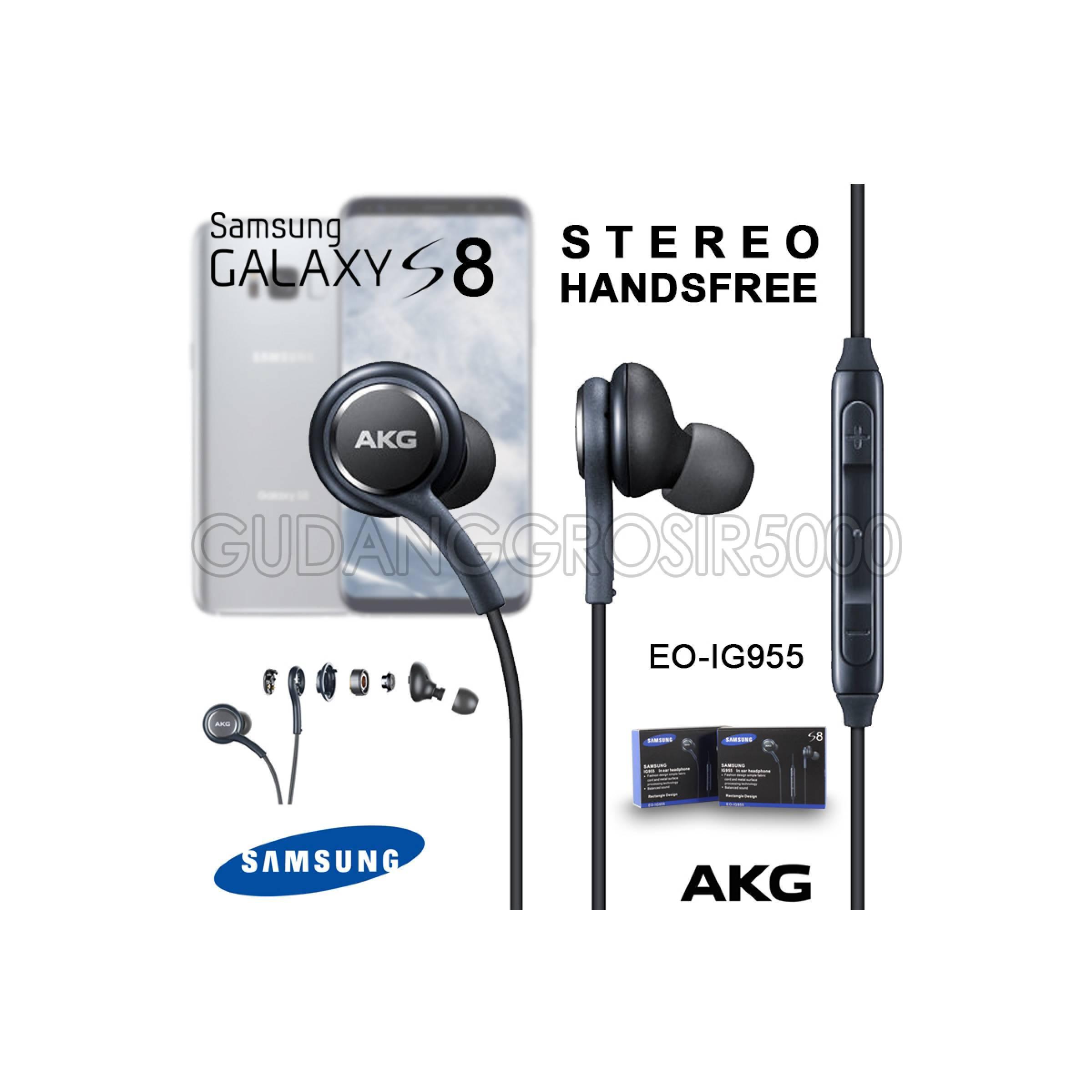 Hf handsfree earphone headset samsung s8 + plus design by AKG IG955
