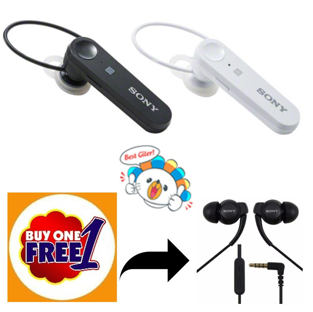 (BUY 1 FREE 1) Handsfree Bluetooth For SONY 4.1 WHITE FREE Handsfree SONY