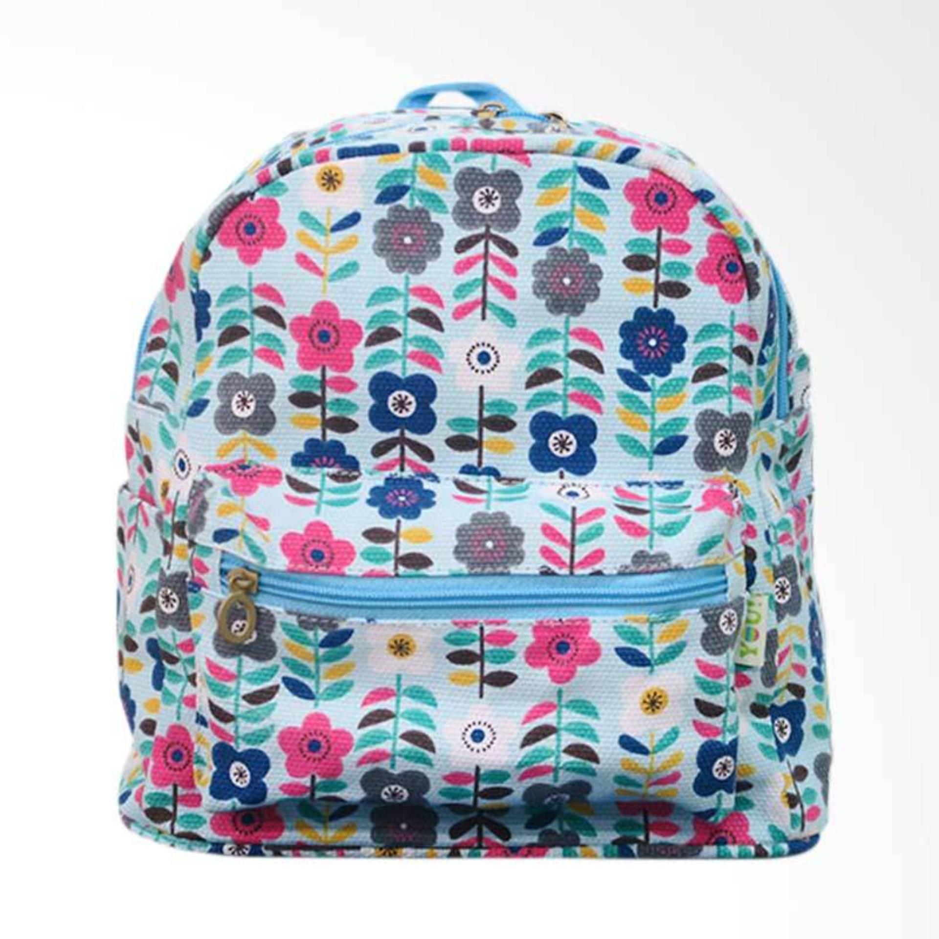 Yeye Bags YOU RSM 02 Flower Tas Ransel Backpack - Biru