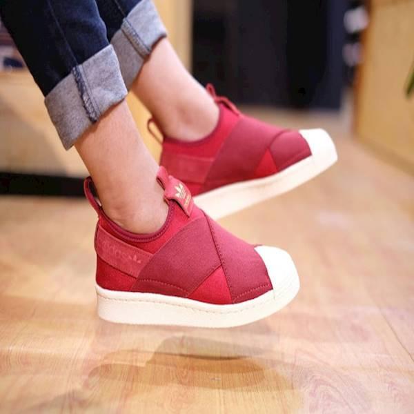 Termurah Sepatu Original Adidas Superstar Slip-On Red Maroon Terbaru