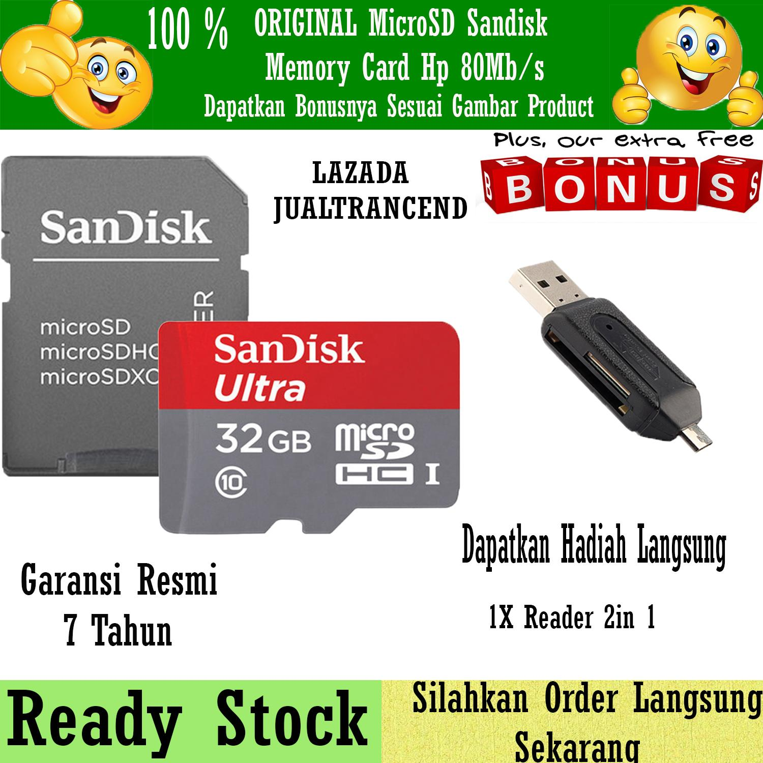 Kelebihan Sandisk Microsdhc 80mb S 32gb Class 10 Uhs 1 With Micro 16gb Sd Ultra Sdhc I Memory Card Hp