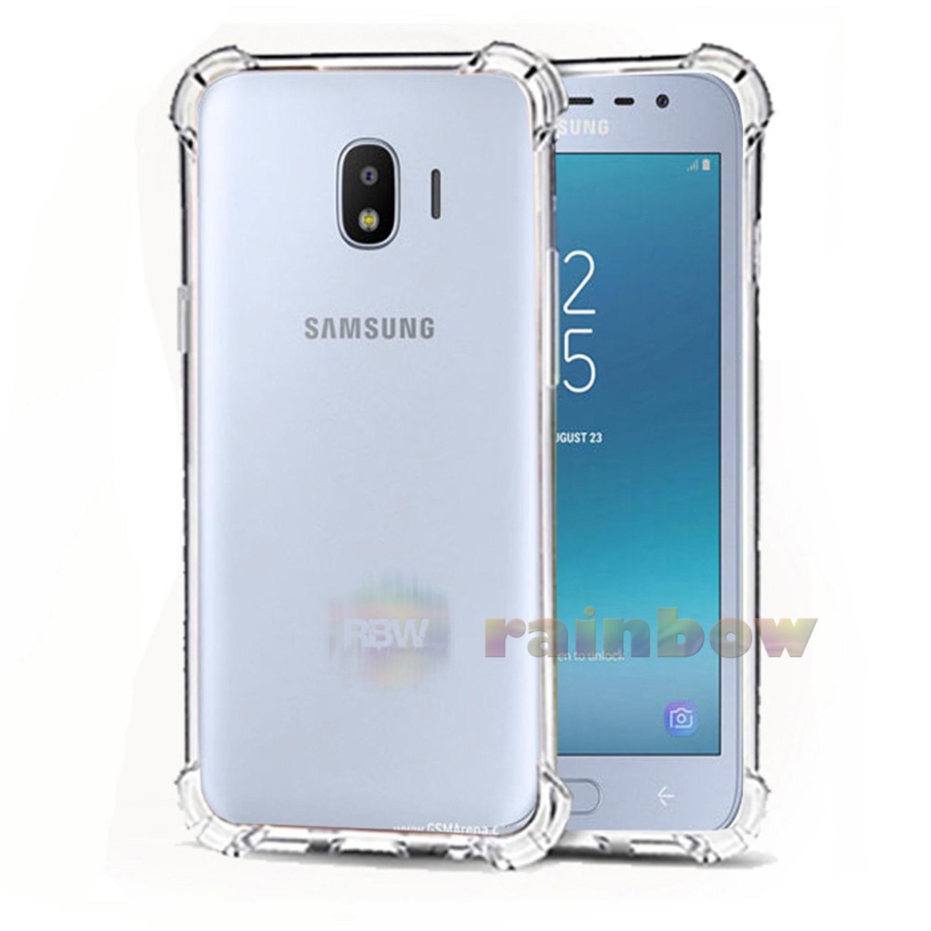 Rainbow Soft Case Anti Crack Samsung Galaxy J4 2018 Shockproof Anti Shock Samsung J4 2018 /