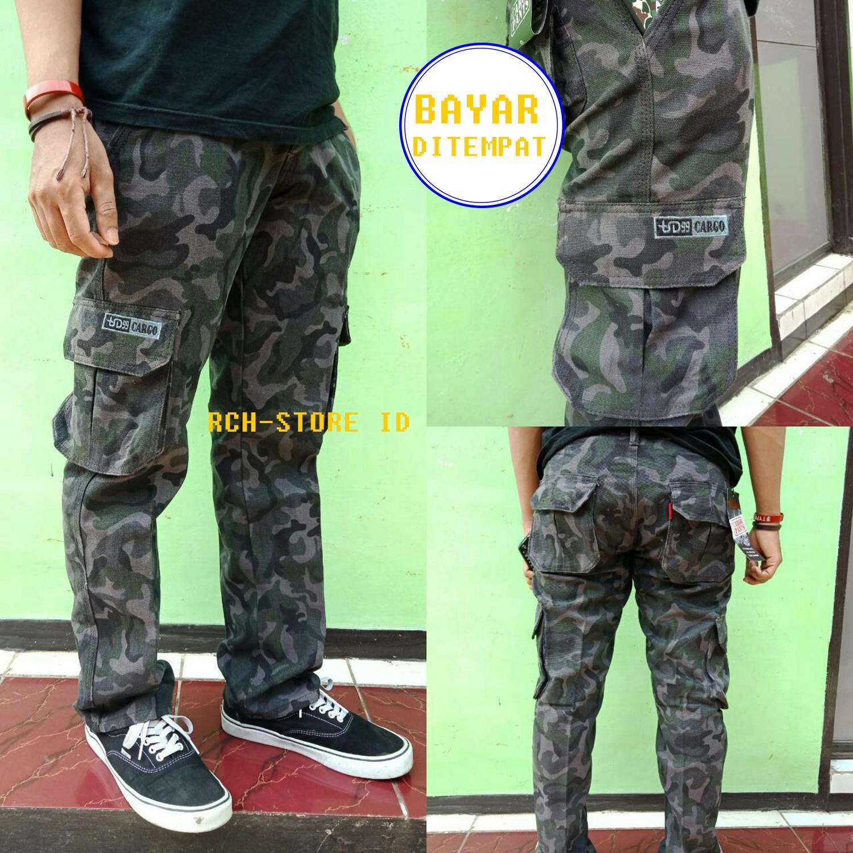 Celana Cargo Green Army Military fashionable premium .