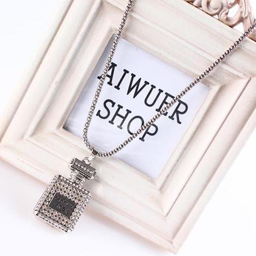 OILA Kalung Botol Parfum Fashion Perfume Bottle Necklace Jewelry Jka111