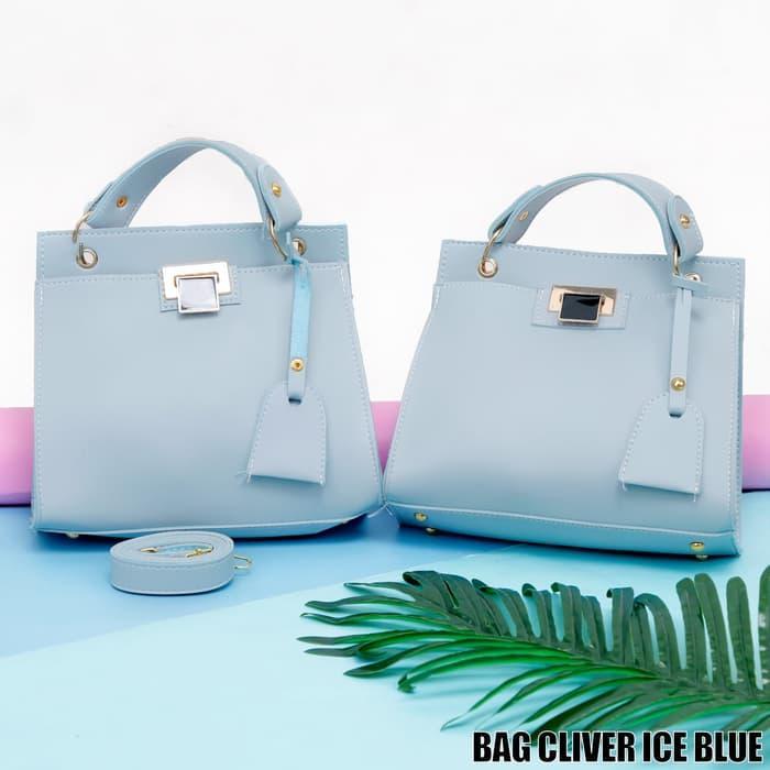 Bag Cliver Ice Blue - Sling Bag - Tas Wanita - Tas Ransel - Tas Selempang