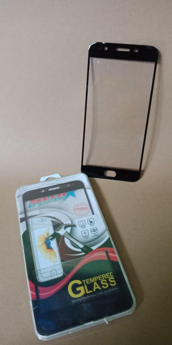 Kelinci Acc - Tempered Glass / Anti Gores Warna / Color for Vivo Y53 - Black_2793