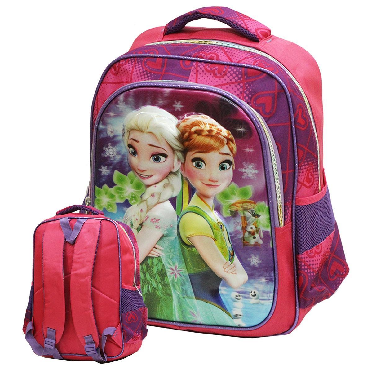 Katalog Onlan Disney Frozen Fever 5D Timbul Hologram Tas Ransel Anak Sekolah Sd Dua Kantung Import Purple Onlan Terbaru