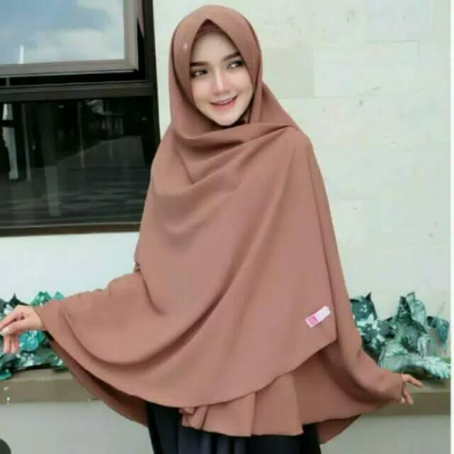 khimar belah super jumbo pet